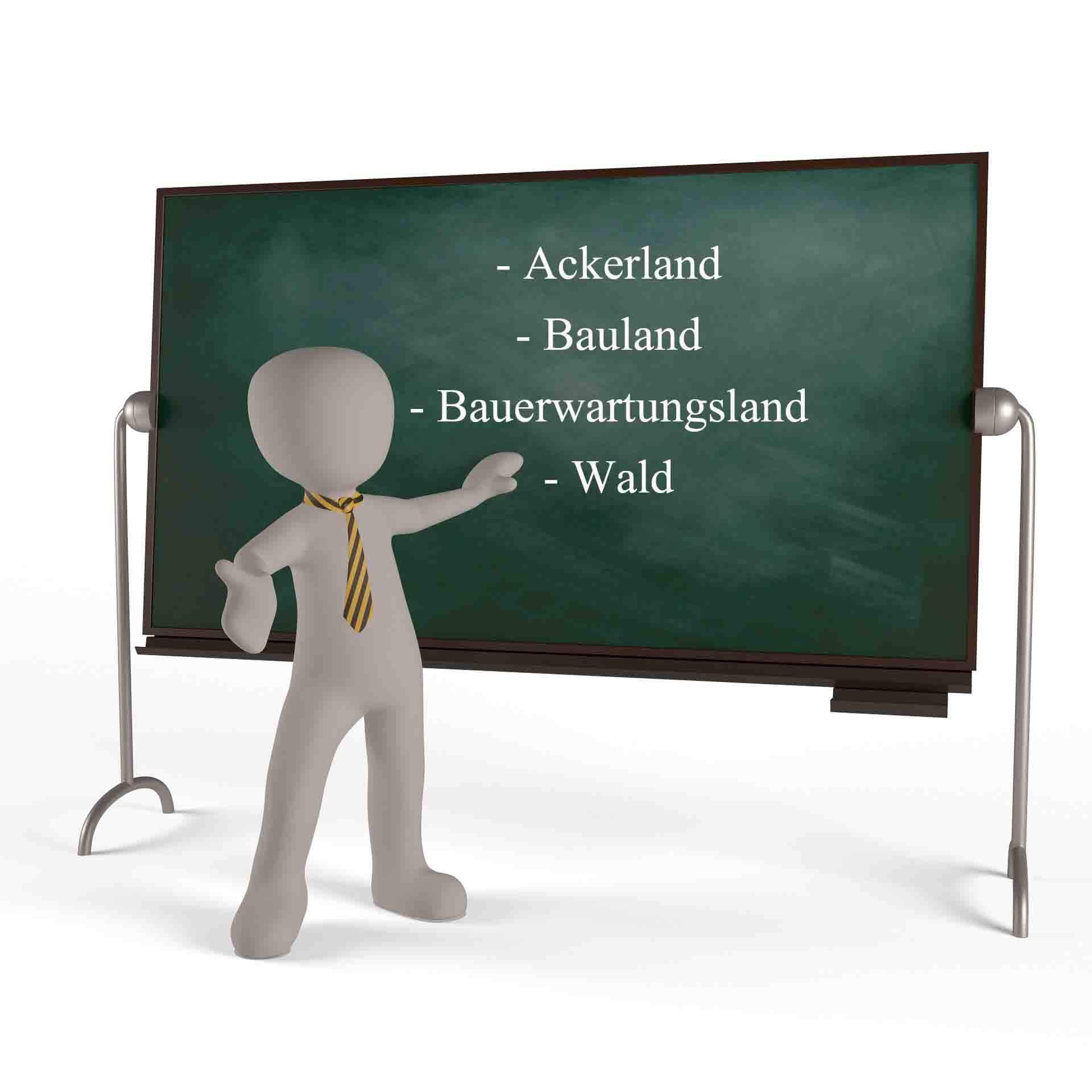 Ich suche Ackerland, Bauerwartungsland, Bauland und Wald